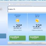 Informacje praktyczne. Poradnik turysty. Prognoza pogody nawakacje