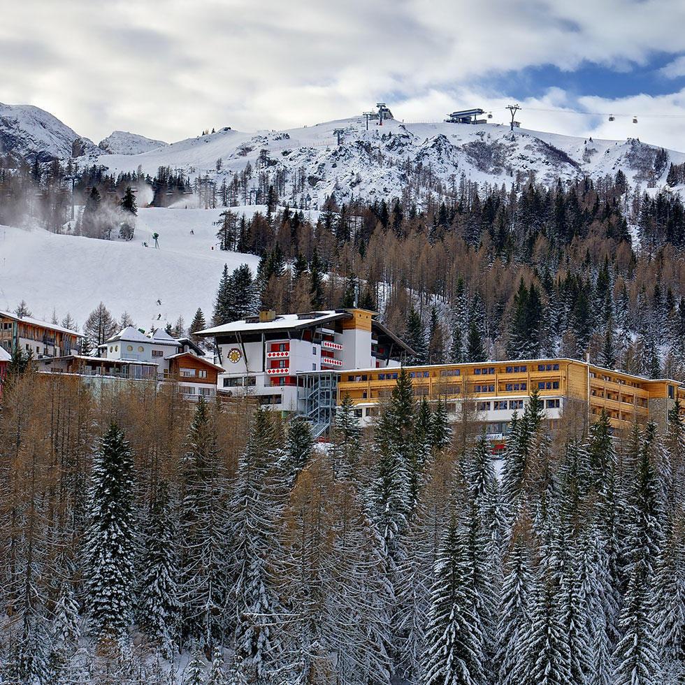 przykład hotelu doskonałego dla rodzin zdziećmi nanarty wKaryntii