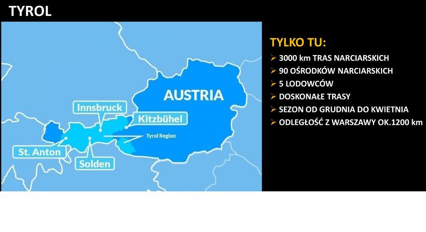 główne zalety austriackiego Tyrolu dla narciarzy