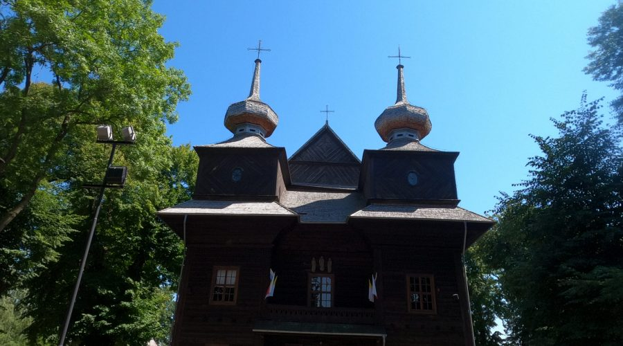the wooden church of the Annunciation of St. Mary in the Lubelska Upland in eastern Poland