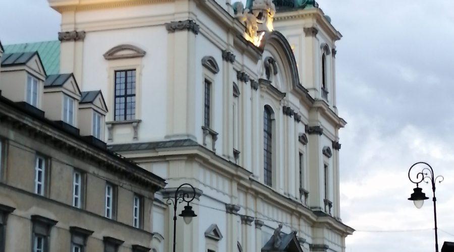 the Holy Cross church in Warsaw at the Krakowskie Przedmiescie street