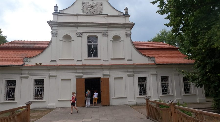 """the 18th century church called """"on the island"""" in the Polish Roztocze natural park"""