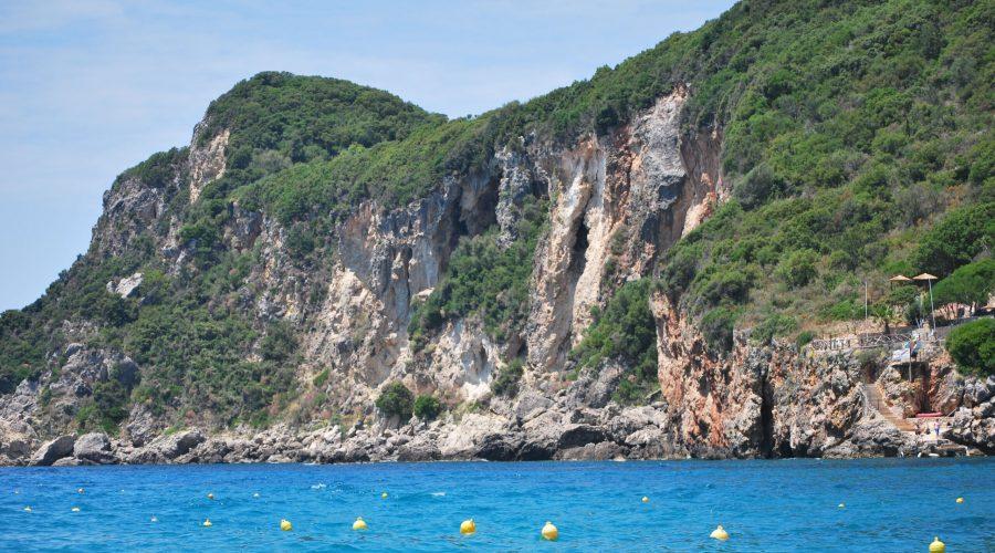 the Liapades Bay beach located within the picteresque bays of Paleokastritsa