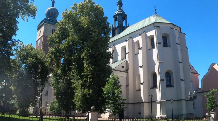the Miechow basilica founded in the Middle Ages about 20 km north of Krakow