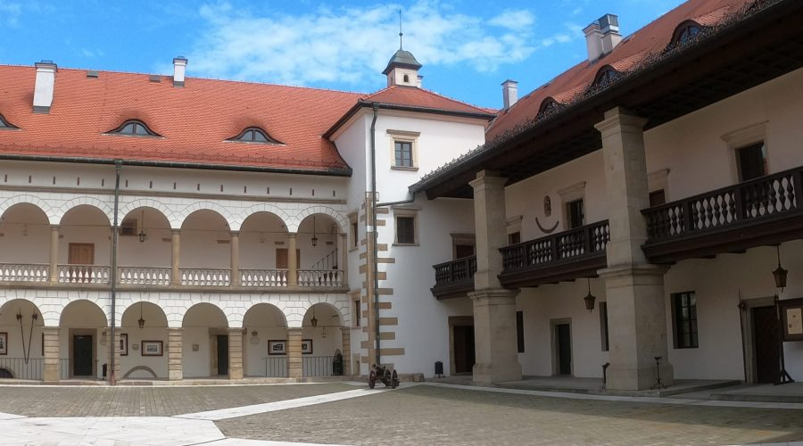 the royal castle in a town of Niepolomice in a proximity of Krakow; the castle founded by the Polish king Casimir the Great in the Middle Ages