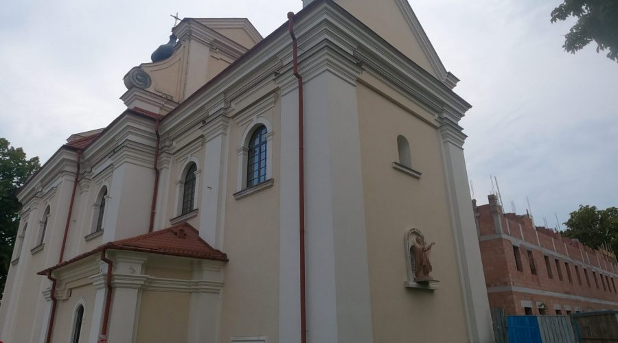one of the baroque churches in the city of Zamosc the city that was developed bythe Polish notable Jan Zamoyski