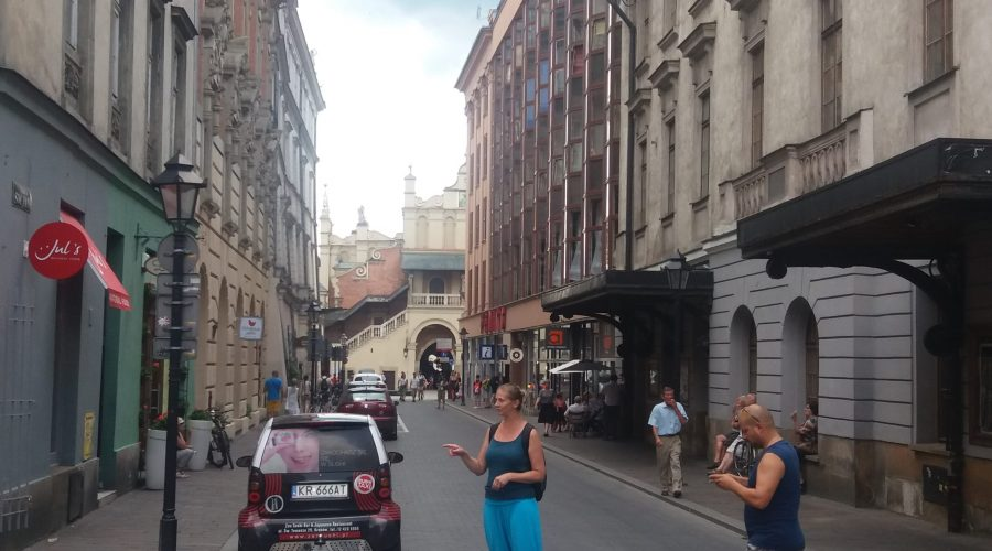 a stroll along the St. John street during the tour to Cracow
