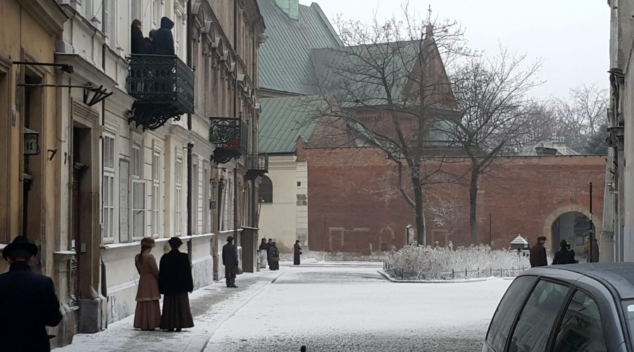 "the picture taken of the corner of the Swiety Marek street and the Reformacka street in Krakow while there were made shots to the Polish movie ""Pilsudski"""