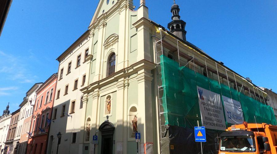a baroque church of St. Thomas Apostle in Krakow