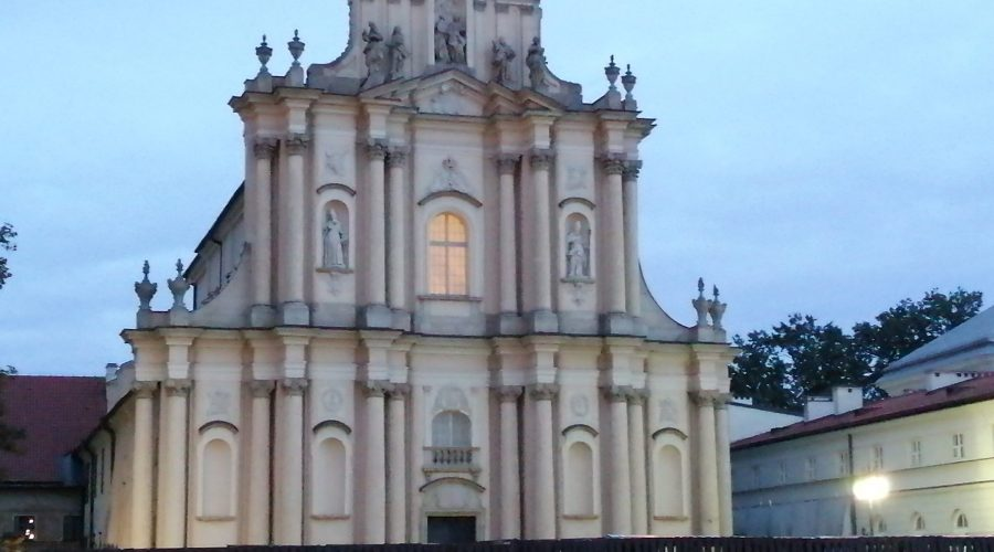 late Baroque church of the Visitation Sisters at the Krakowskie Przedmieście street in the heart of Warsaw